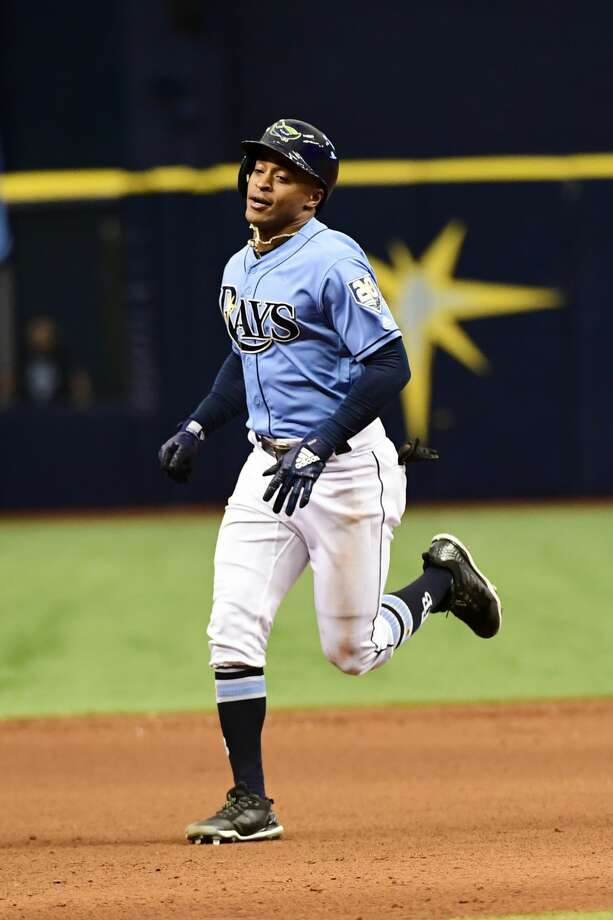FILE: Mallex Smith rounds the bases after hitting a home run. (Photo by Julio Aguilar/Getty Images) Photo: Julio Aguilar/Getty Images