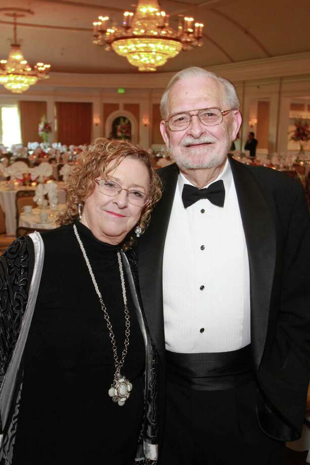 (For the Chronicle/Gary Fountain, May 15, 2014) Diane and Bruce Mosier at the Houston Bar Association dinner, where Bruce was honored for 50 years of practice. Photo: Gary Fountain, Freelance / For The Chronicle / Copyright 2014 by Gary Fountain