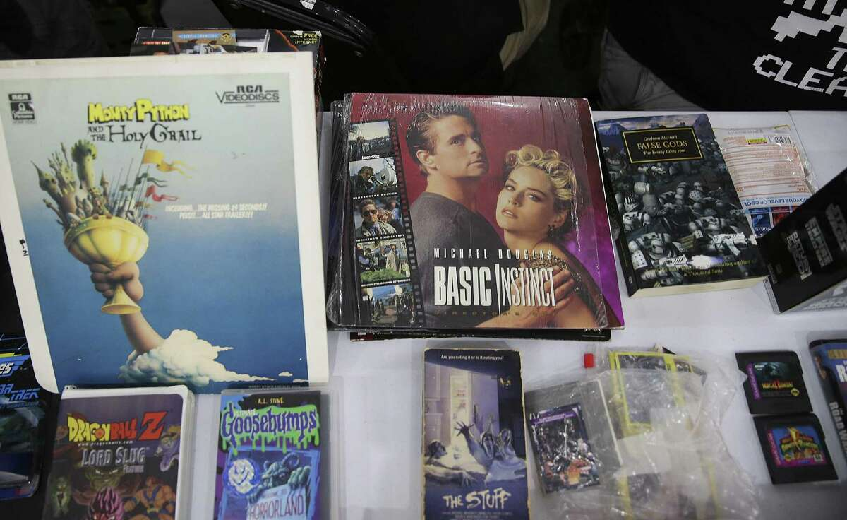 From laser discs, to betamax, to VHS tapes attendees of Insomnia Gallery's third VHS Swap, get a chance to purchase the media of their choice on Sunday, July 1, 2018 in Houston. (Elizabeth Conley/Houston Chronicle)