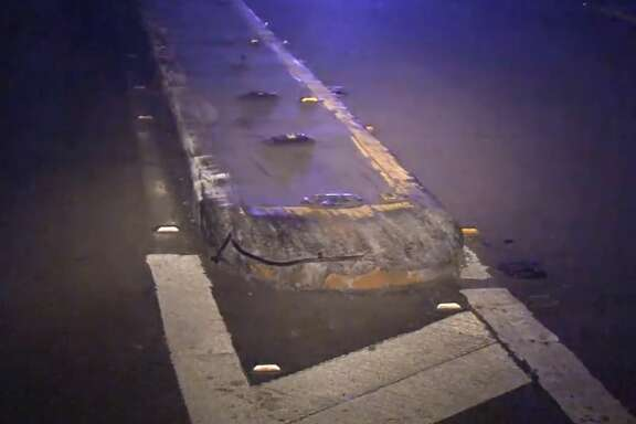 A man died after his motorcycle hit a concrete median on the North Freeway entrance ramp near Cypresswood on Sunday, July 1, 2018.