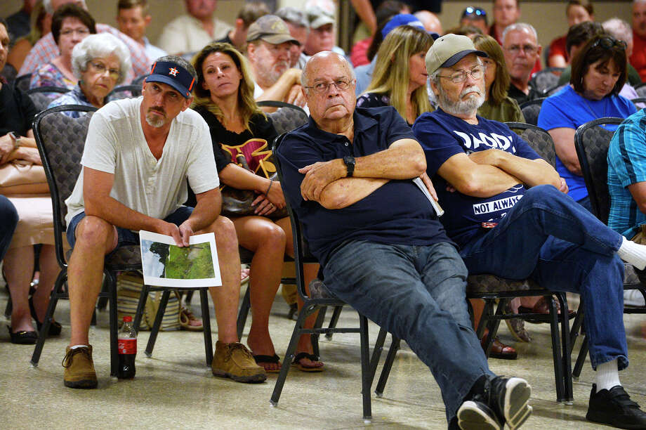 Audience members listen during a public forum for Orange County residents to address drainage issues after recent flooding. Photo taken Thursday 6/28/18 Ryan Pelham/The Enterprise Photo: Ryan Pelham/The Enterprise / ?2018 The Beaumont Enterprise