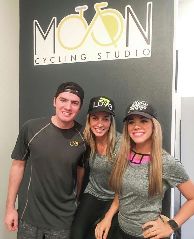 Diego Monetou, Alejandra Luna and Lupita Mireles at Moon Cycling StudioJune 27, 2018 Photo: TAMIU Health And Physical Activity Club