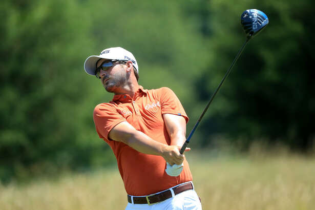 POTOMAC, MD - JULY 01: Andrew Landry hits off the second tee during the final round of the Quicken Loans National at TPC Potomac on July 1, 2018 in Potomac, Maryland. (Photo by Sam Greenwood/Getty Images)