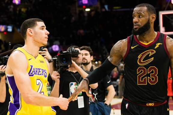 LeBron James (right) will join forces with Lonzo Ball and the Lakers, but his chances of winning another championship grew longer with his move to Los Angeles.