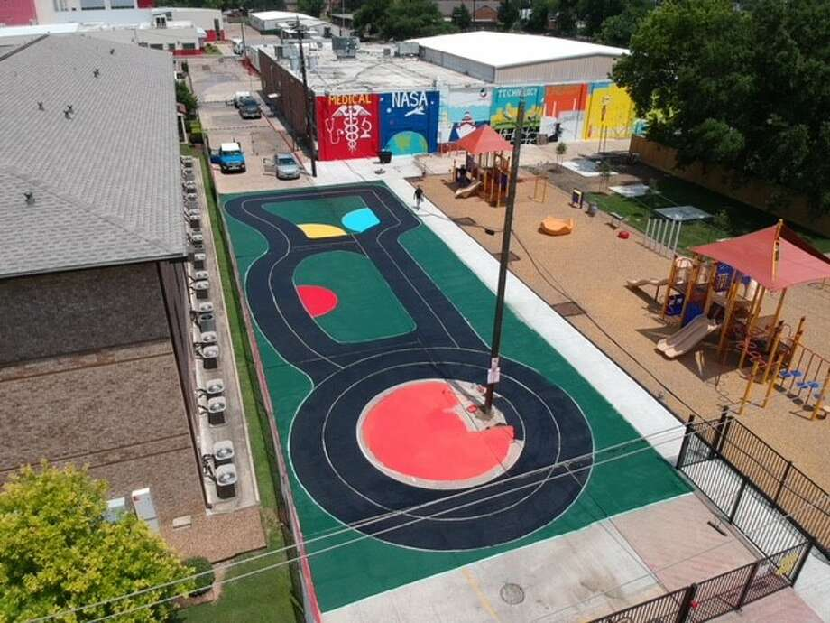 The traffic circle at the Raul Yzaguirre Schools for Success. Photo: Courtesy