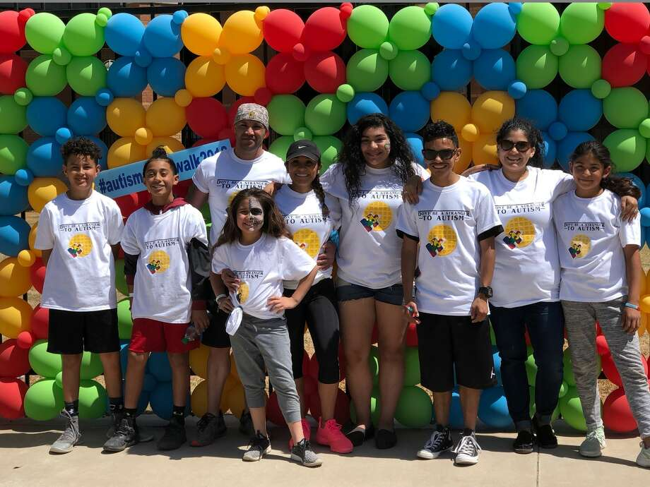 SHARE:  Emily Lovell, front, and Jakob Zarate, from left, Jayden Rivas, Ricky Kirian, Judy Castillo, Zoey Mendoza, John-Michael Rodriguez, Hope Reyes and Elizabeth Mendoza Photo: Courtesy Photo