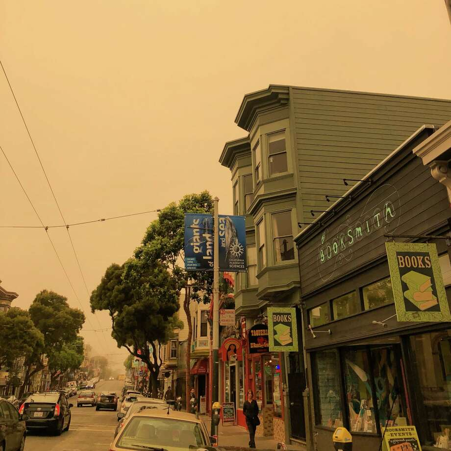 A view of the orange sky in San Francisco, Calif. on July 1, 2018. Photo: Amy Stephenson