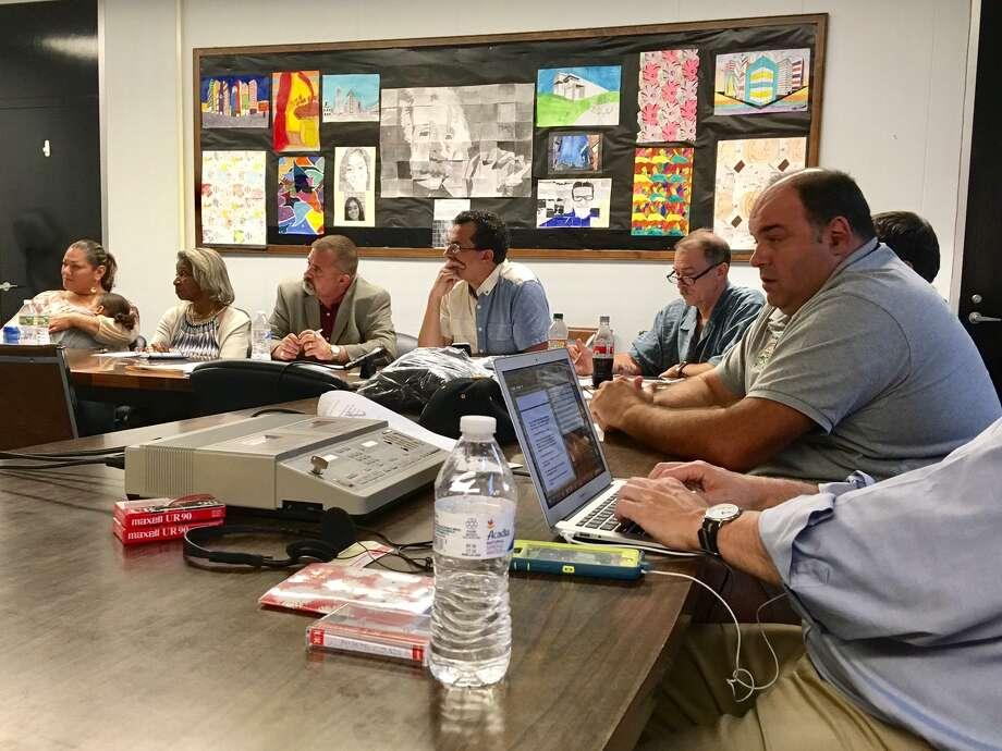 Bridgeport Board of Education meets on budget. June 20, 2018 Photo: Linda Conner Lambeck /