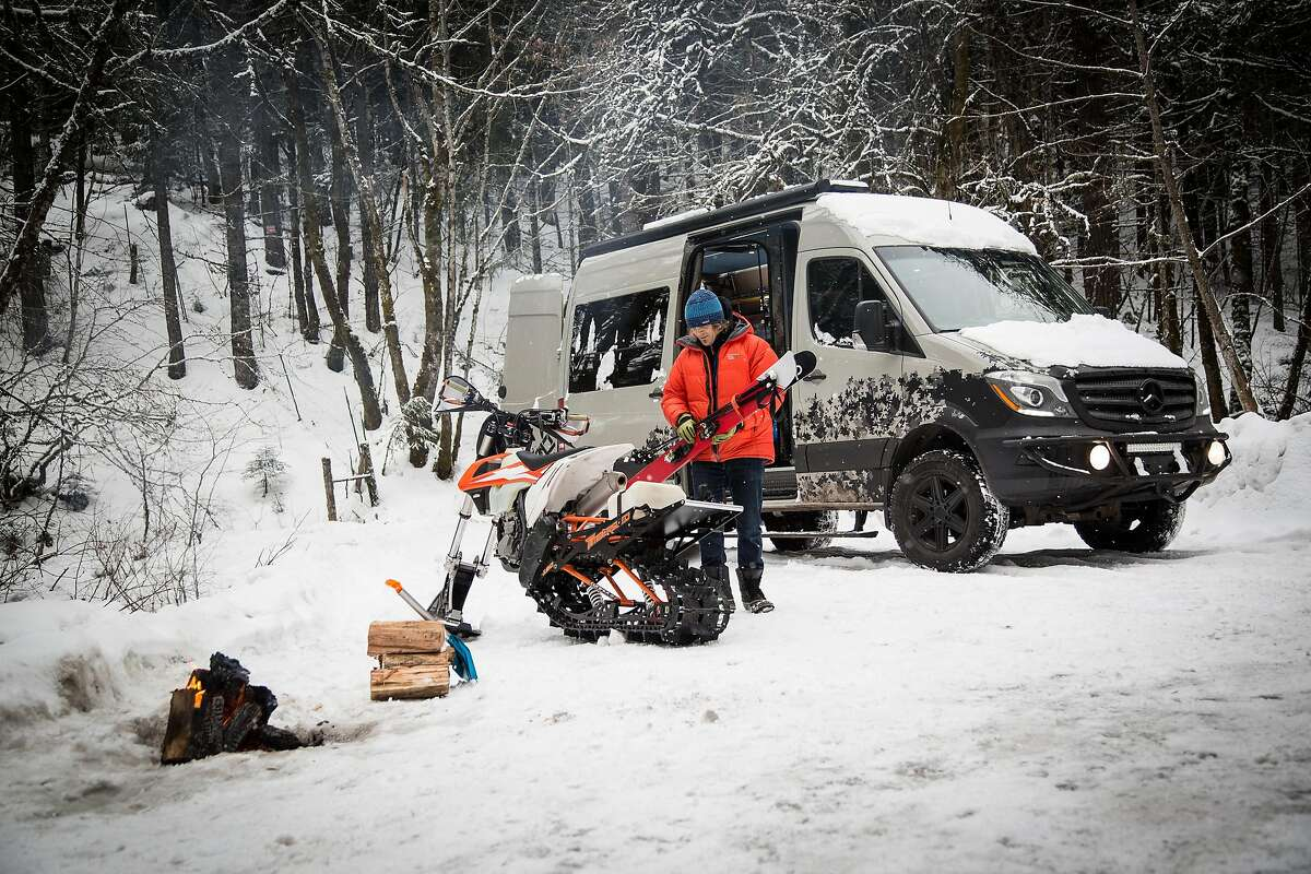 Erik Ekman, founder of Outside Van, travels the country is his kitted-out Sprinter Van.
