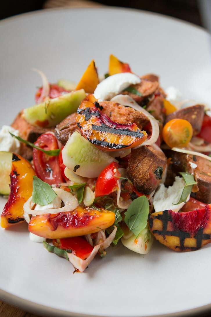 A panzanella salad made by Melissa Perello, chef at Frances restaurant, at her home in San Francisco, Calif., Thursday, July 31, 2014