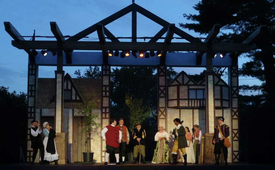 "Above is a scene from Curtain Calls' 2015 production of ""Merry Wives of Windsor."" Photo: Curtain Call Inc. / Contributed Photo / Connecticut Post Contributed"