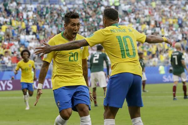 9a181d658 World Cup double bill  Mexico ousted by Brazil