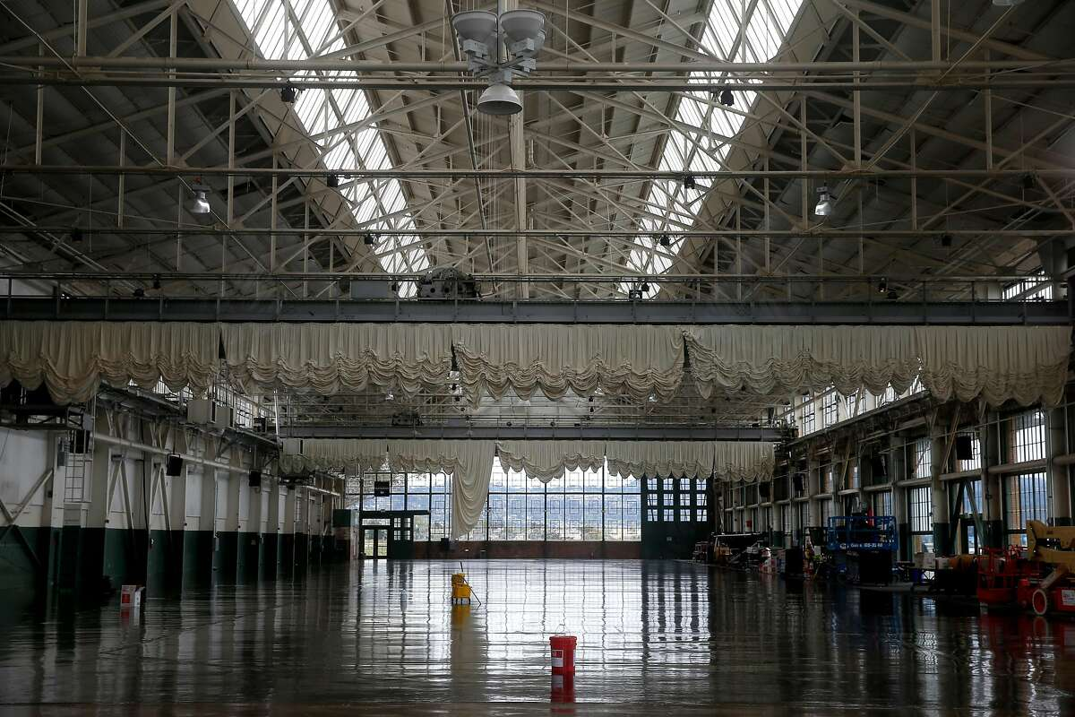 The inside of the Craneway Pavilion is seen where a new ferry terminal is under construction in Richmond, Calif. on Tuesday, May 15, 2018. The terminal is expected to boost the number of commuters and visitors to the area when ferry service begins in the fall.