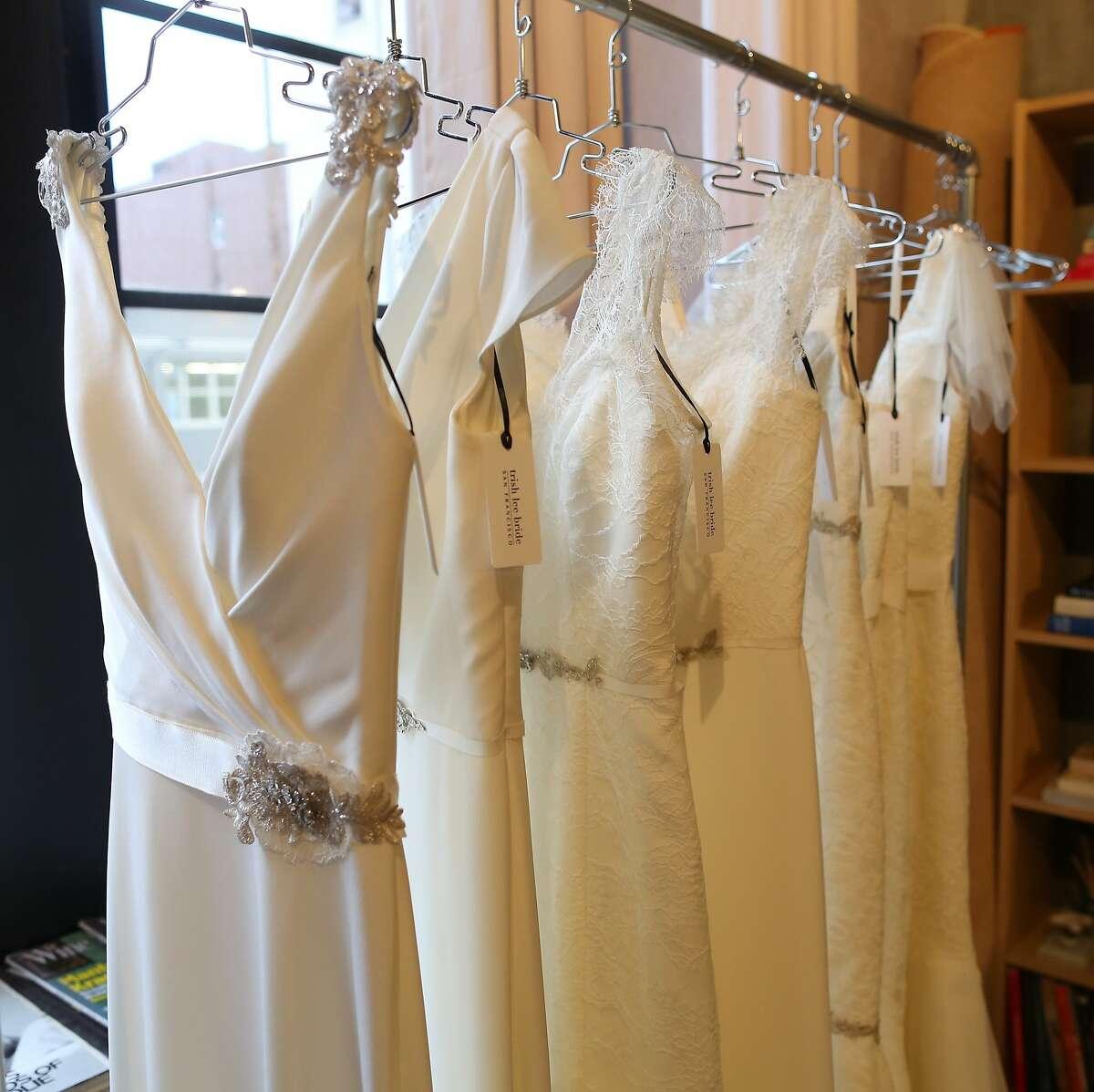 Trish Lee is a new San Francisco bridal gown designer.