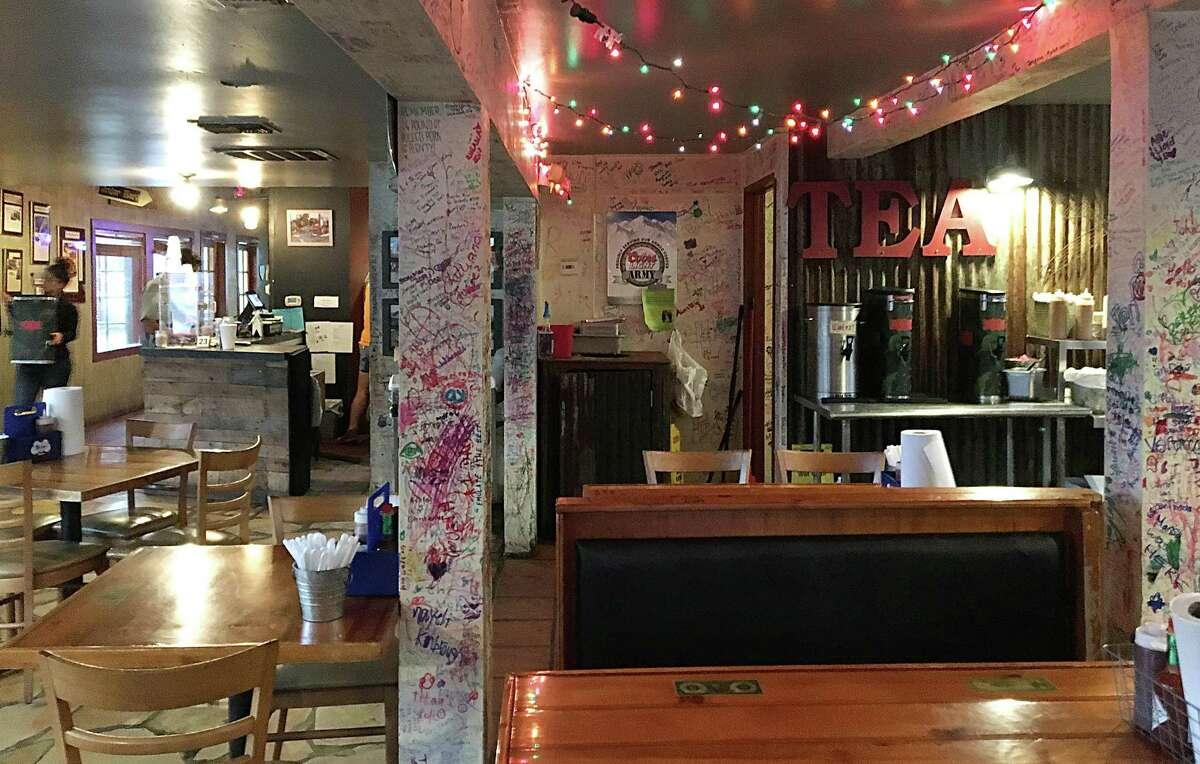 The dining room of Smoke Shack on Broadway in San Antonio.