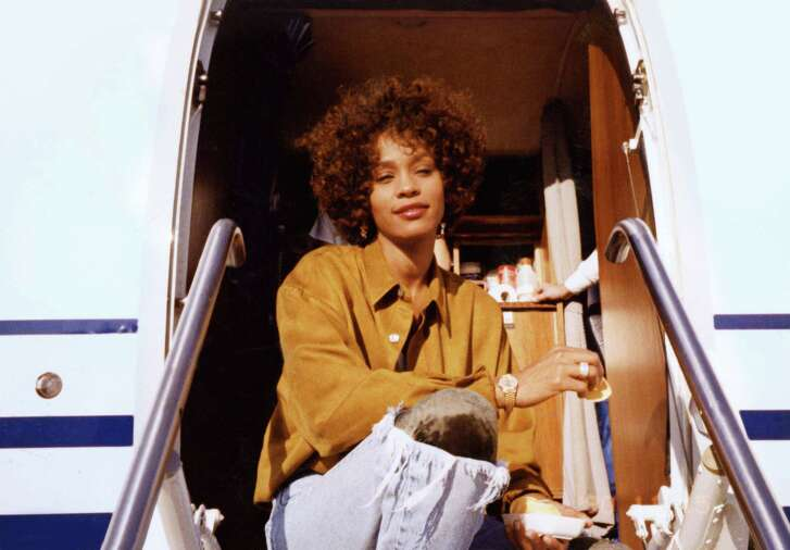 """A photo of Whitney Houston from the film """"Whitney,"""" directed by Kevin Macdonald."""