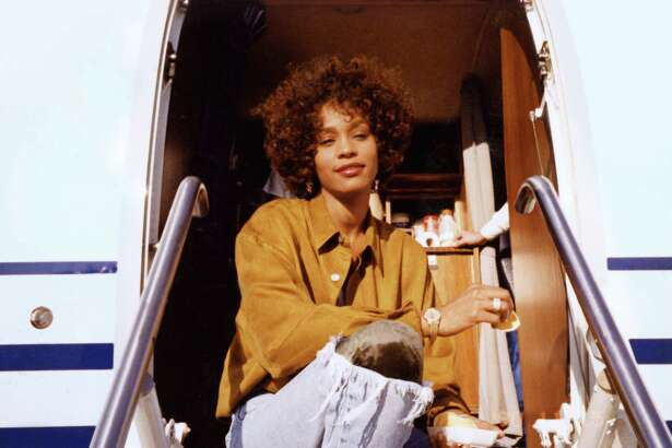 "A photo of Whitney Houston from the film ""Whitney,"" directed by Kevin Macdonald."