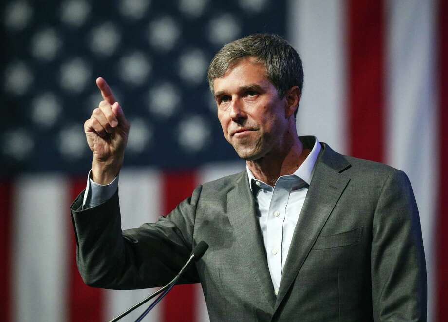 U.S. Rep. Beto O'Rourke speaks during the Texas Democratic Convention in Fort Worth recently. A reader identifies the U.S. Senate candidate as one of the good guys on immigration. Photo: Richard W. Rodriguez /Associated Press / FR170526 AP