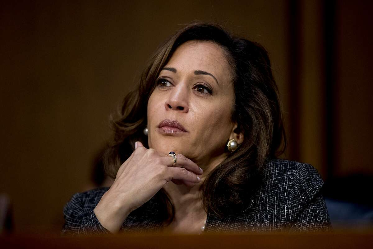 Sen. Kamala Harris, D-Calif., attends a Senate Intelligence Committee hearing on 'Policy Response to Russian Interference in the 2016 U.S. Elections' on Capitol Hill, Wednesday, June 20, 2018, in Washington. (AP Photo/Andrew Harnik)