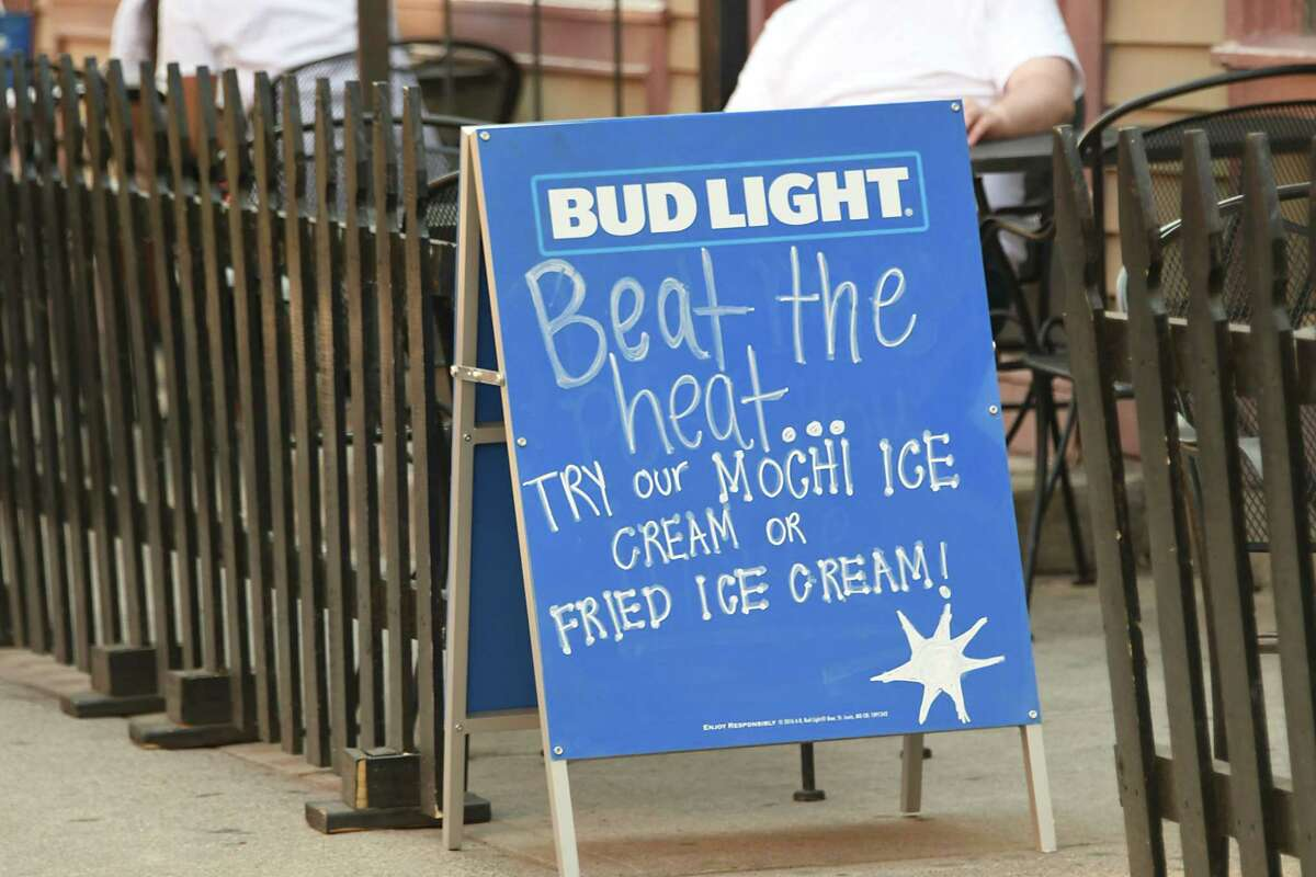 A sign is seen outside of LAX restaurant during a heatwave on Monday, July 2, 2018 in Albany, N.Y. (Lori Van Buren/Times Union)