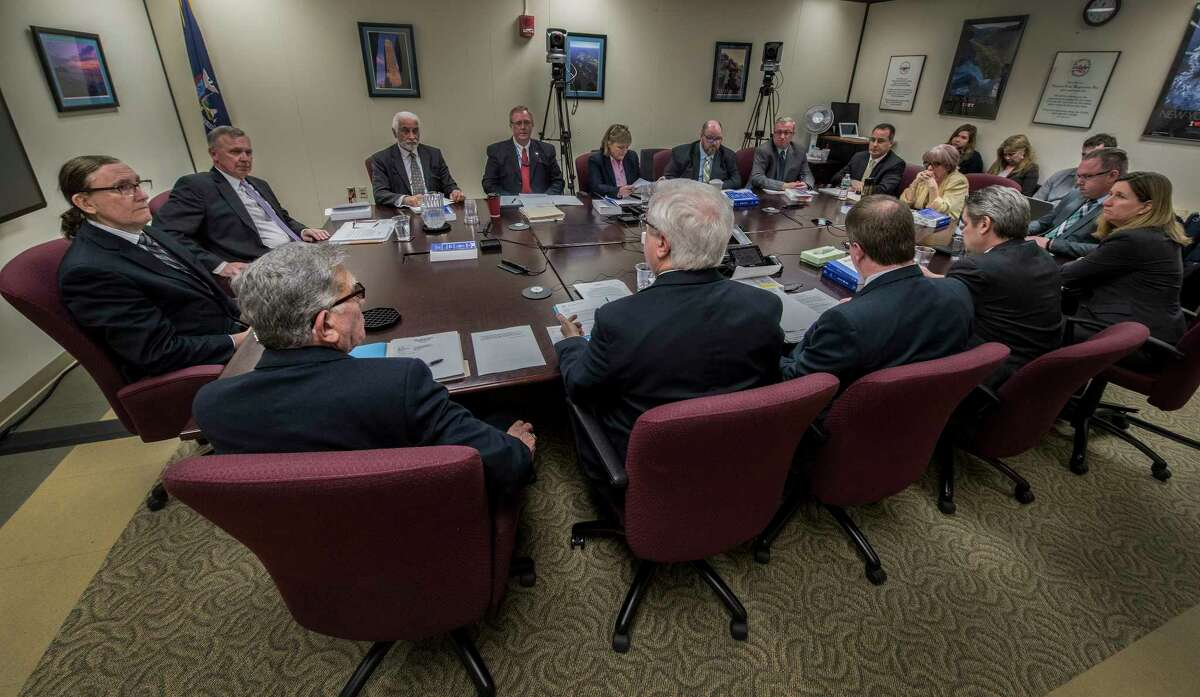 The New York State Board of Elections Monthly meeting in progress on Thursday, April 5, 2018, in Albany, N.Y. (Skip Dickstein/Times Union)