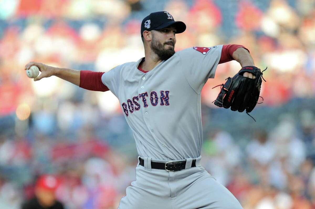 WASHINGTON, DC - JULY 02: Rick Porcello #22 of the Boston Red Sox pitches in the first inning against the Washington Nationals at Nationals Park on July 2, 2018 in Washington, DC. (Photo by Greg Fiume/Getty Images)