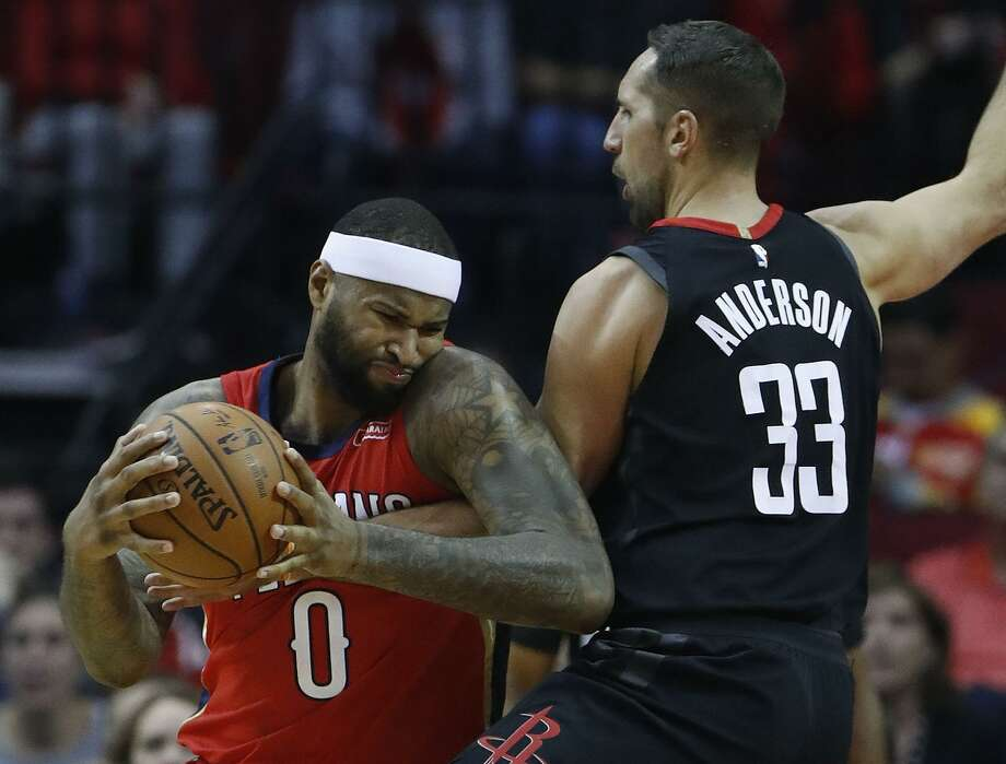 The next time the Rockets see DeMarcus Cousins on the floor, he'll be with the defending champion Warriors. Photo: Karen Warren, Staff / Houston Chronicle / © 2017 Houston Chronicle
