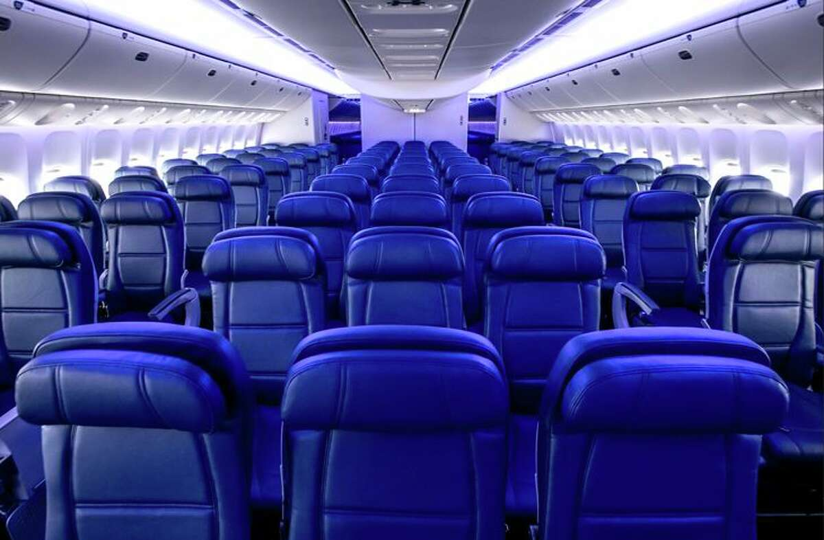 New main cabin seats on Delta's Boeing 777-200 are 18.5 inches wide. (Image: Delta)
