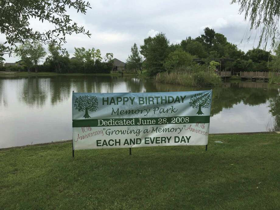A new sign commemorates the park's 10th anniversary.