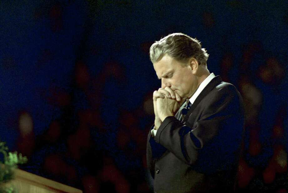 """""""Many times I have been driven to prayer,"""" Billy Graham once said. """"When I was in Bible school I didn't know what to do with my life. I used to walk the streets…and pray, sometimes for hours at a time. In His timing, God answered those prayers, and since then prayer has been an essential part of my life."""" (photo: Pittsburg, 1968) Photo: Billy Graham Evangelistic Association / Billy Graham Evangelistic Association"""