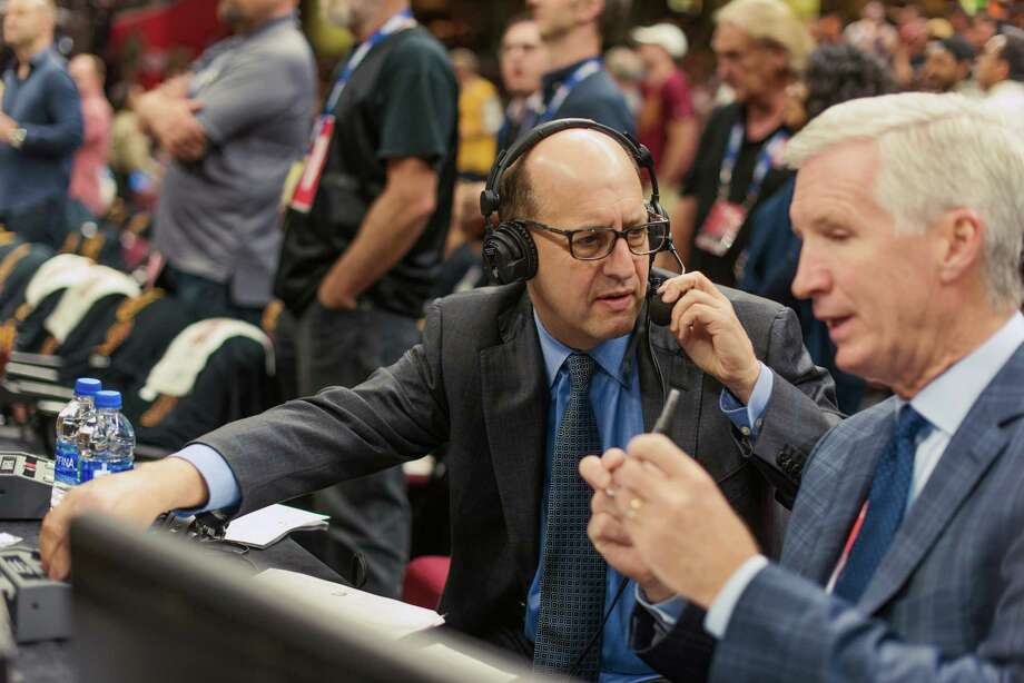 Jeff Van Gundy has worked alongside Mike Breen on NBA broadcasts for 11 years, following a successful coaching career. Photo: Photo For The Washington Post By Billy Delfs / For The Washington Post