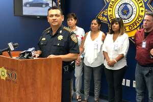 Harris County Sheriff Ed Gonzalez leads a news conference in the hopes of finding information into the June 8, 2015, murder of 18-year-old Jonathan Minder.