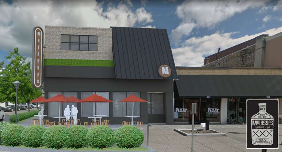 This rendering depicts plans for Molasses, a restaurant and bar that will open at the end of 2018 at 201 East Main St. in Midland. Photo: Photo Provided