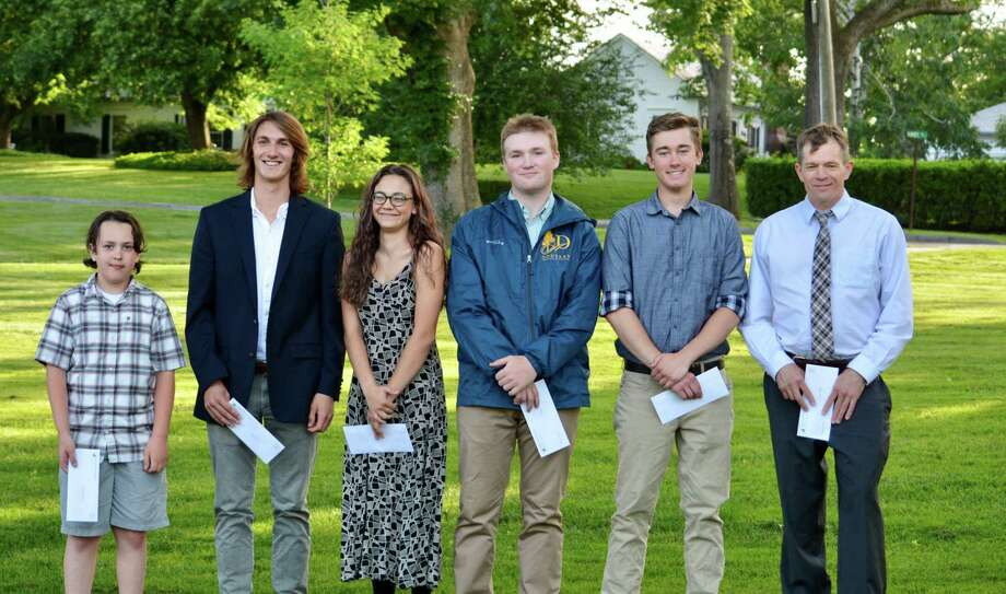 The Washington Environmental Council recently awarded nearly $10,000 to local students through its scholarship and sponsorship programs. Recipients are, from left to right, Jake Gervasio (Pratt Sponsorship), Jack Ewing, Emily Alworth, Connor Douskey, Jack Virbickas and Dave Neal. Not pictured is Benjamin Farrell. Photo: Courtesy Of WEC / The News-Times Contributed