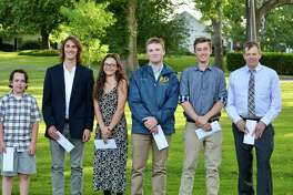 The Washington Environmental Council recently awarded nearly $10,000 to local students through its scholarship and sponsorship programs. Recipients are, from left to right, Jake Gervasio (Pratt Sponsorship), Jack Ewing, Emily Alworth, Connor Douskey, Jack Virbickas and Dave Neal. Not pictured is Benjamin Farrell.