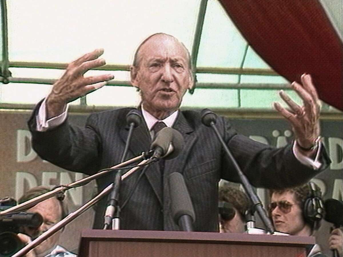 """Kurt Waldheim in the new documentary """"The Waldheim Waltz,"""" which will be screened at the 38th San Francisco Jewish Film Festival"""