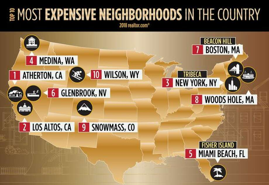 Click ahead to see the most expensive neighborhoods in the country.  Photo: Realtor.com