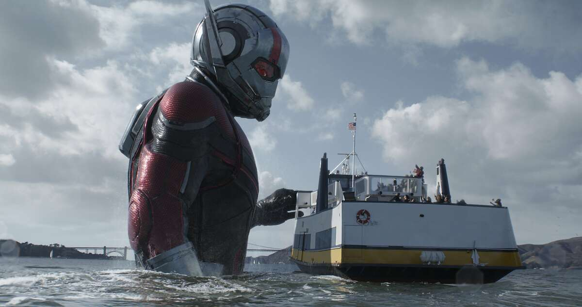 """This image released by Marvel Studios shows Paul Rudd in a scene from """"Ant-Man and the Wasp."""" (Disney/Marvel Studios via AP)"""