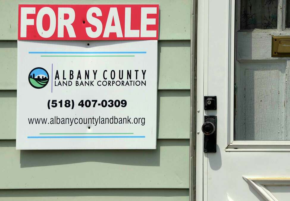 For Sale sign on house at 175 Broad Street Tuesday July 3, 2018 in Albany, NY. (John Carl D'Annibale/Times Union)