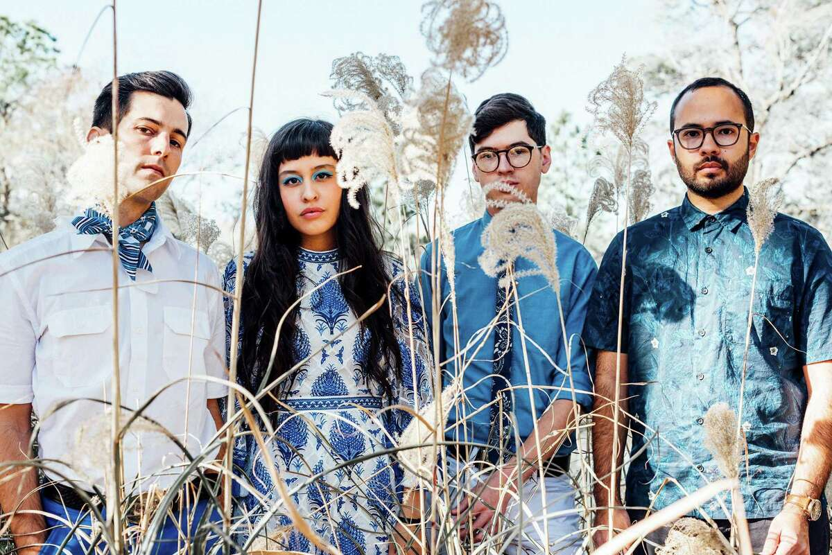 Houston indie-pop group Wild Moccasins, perform at The Brown Foundation, Inc. Plaza. on Friday.