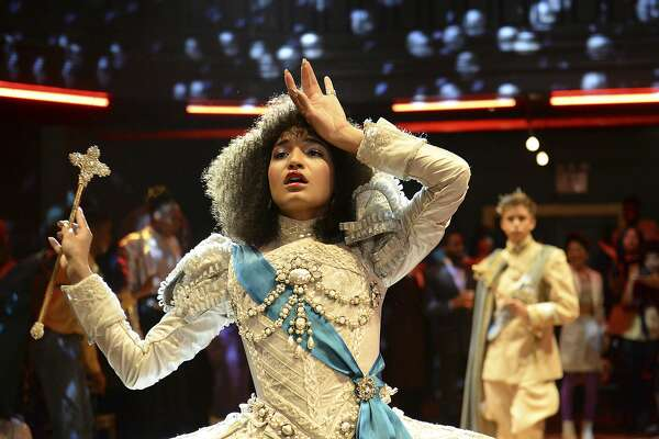 "This image released by FX shows Indya Moore as Angel in a scene from the new series ""Pose,"" airing Sundays on FX. (JoJo Whilden/FX via AP)"
