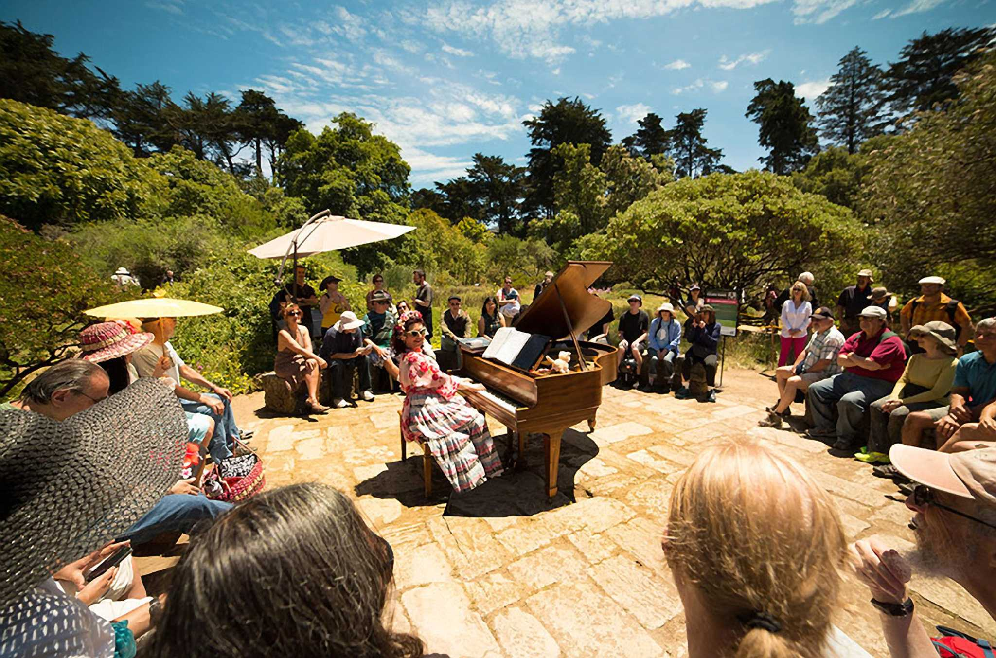 SF Botanical Garden\'s annual event places pianos amid the greenery ...