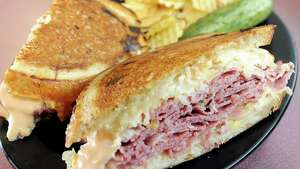 Sandwiches with corned beef and/or pastrami at populkar among diners at Gershon's. (Tims Union file  photo.)