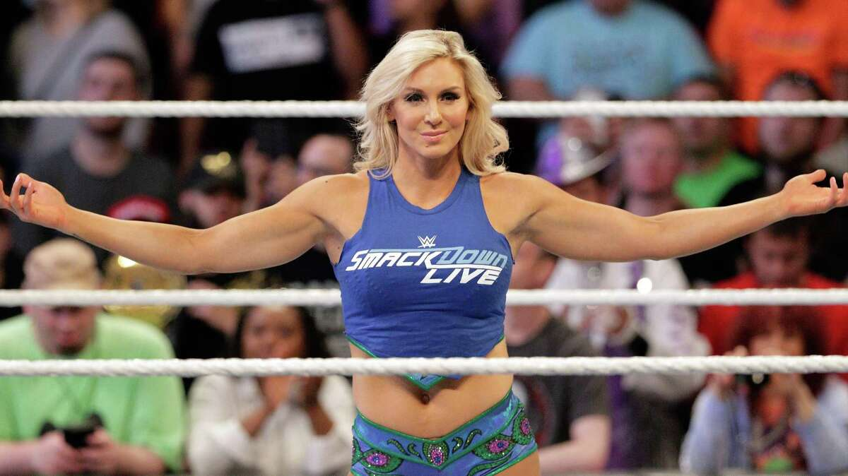 Charlotte Flair enters the ring before the match against Alexa Bliss during the WWE Survivor Series held at the Toyota Center in Houston, TX.