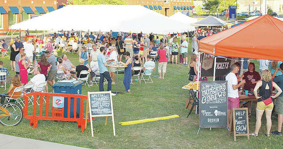 "The Goshen Market Foundation will hold its annual ""Burgers & Brews"" festival from 6 to 10 p.m. Saturday on the Goshen Market Green in Downtown Edwardsville. Photo:       For The Telegraph"
