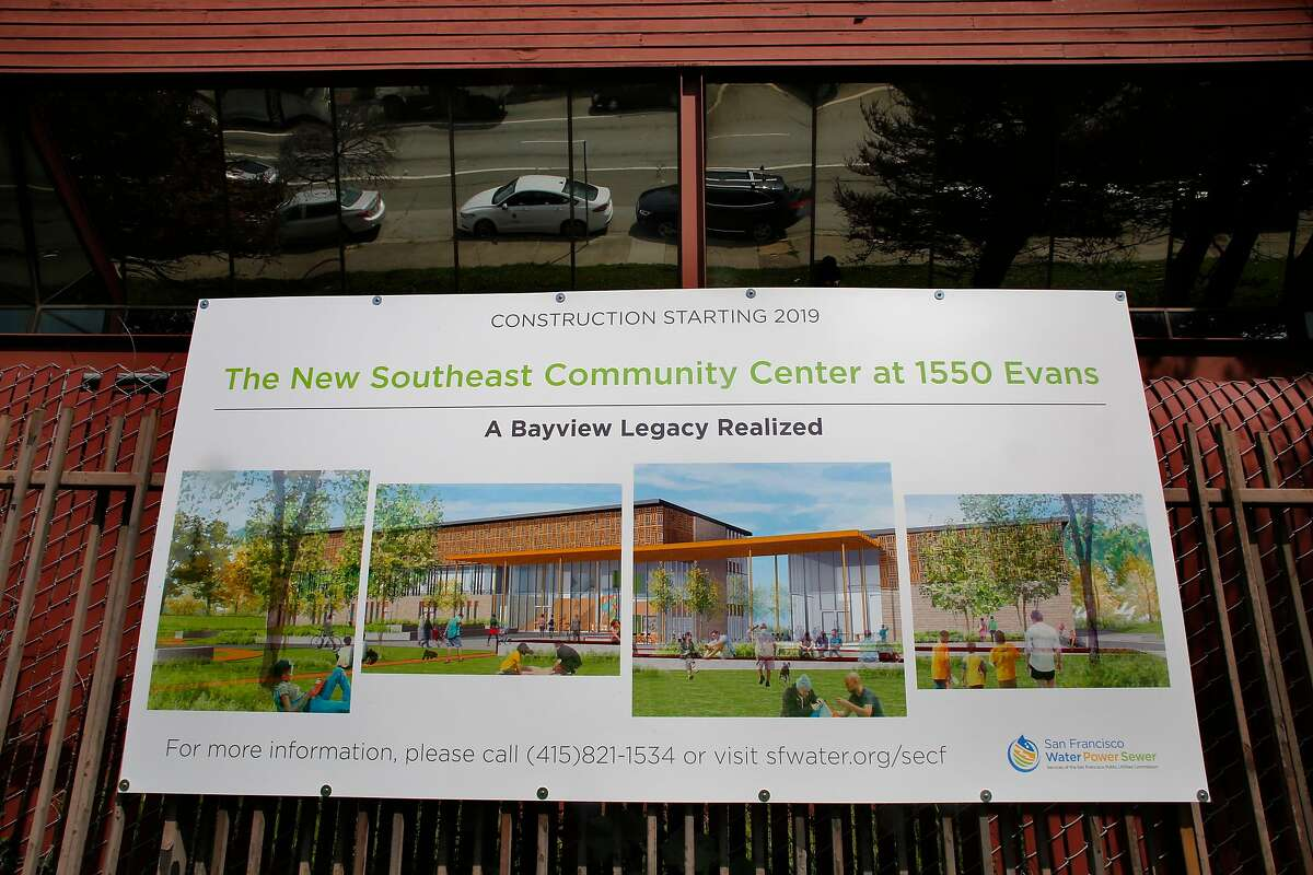 An artist's rendering of the new Southeast Community Center in front of 1550 Evans Ave., on Mon. March 19, 2018, in San Francisco, Ca.