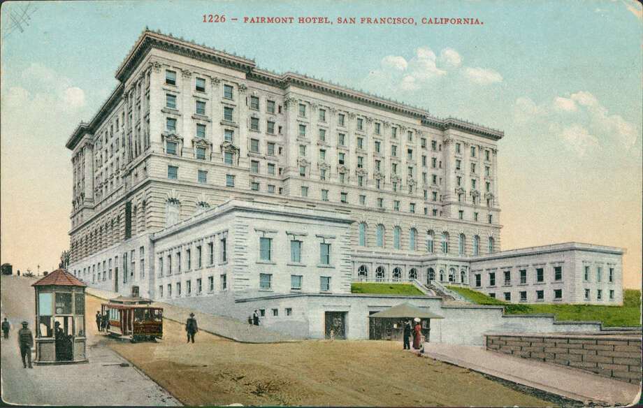 The Fairmont Hotel, a luxury hotel building in the Beaux-Arts style, on Nob Hill, built in 1907, San Francisco, California, 1920. (Photo by Smith Collection/Gado/Getty Images) Photo: (Photo By Smith Collection/Gado/Getty Images)