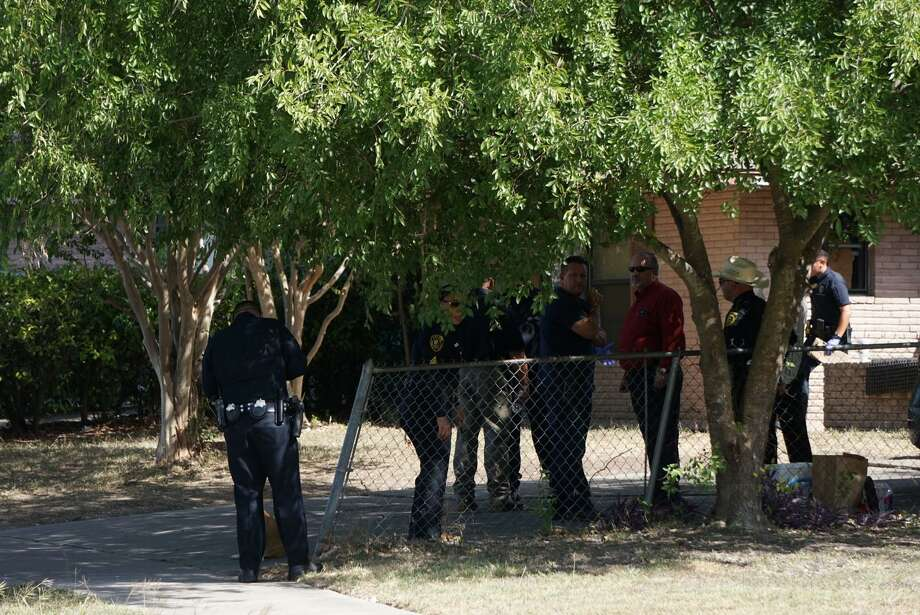 A dead baby was reportedly found in a suitcase during a search of a home in the 7900 block of Bronco Lane on a narcotics warrant at 1 p.m. Photo: Jacob Beltran /San Antonio Express-News