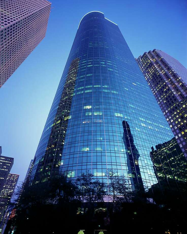 Wells Fargo Plaza, a 1.7-million-square-foot office tower at 1000 Louisiana Street, is is managed by CBRE. Photo: Courtesy Photo / CBRE