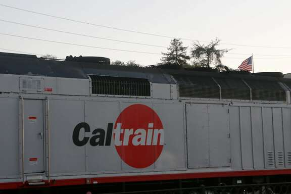 A Caltrain leaves the Palo Alto Station on Wednesday, June 13, 2018 in Palo Alto, Calif.